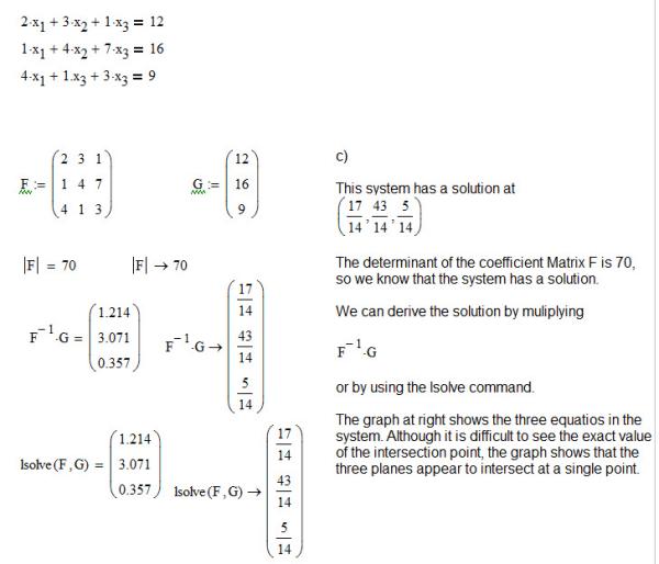 Matrices In Algebra 1 Mathcad 150 Illustrates The Solutions