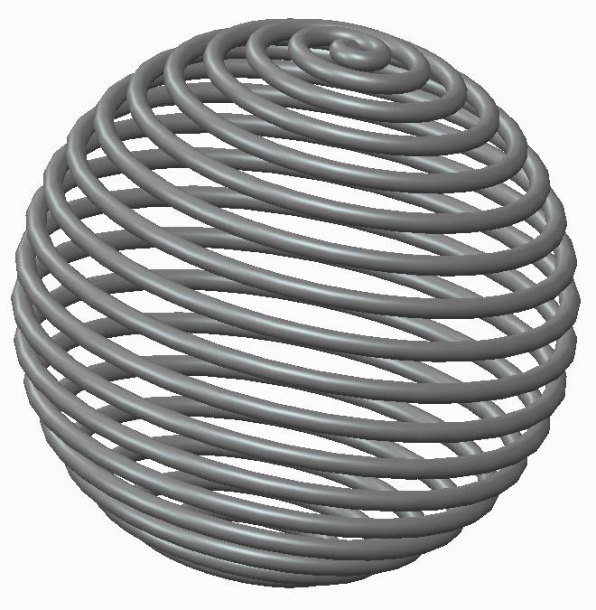 Spherical Helix by Datum Curve