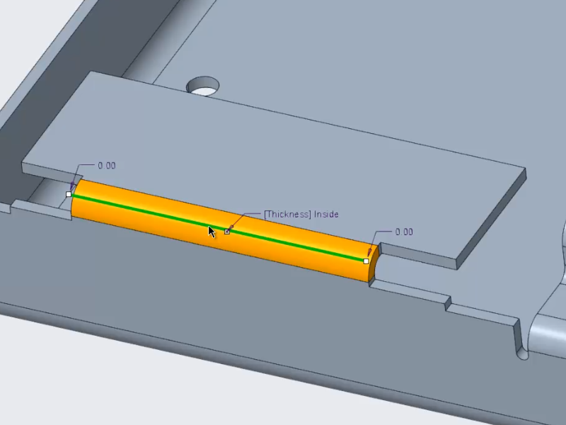 Edge Bend Is Improved in Sheetmetal Design   PTC Learning Connector