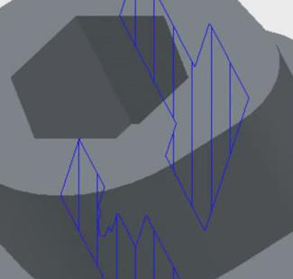 Création de sections le long de divers plans