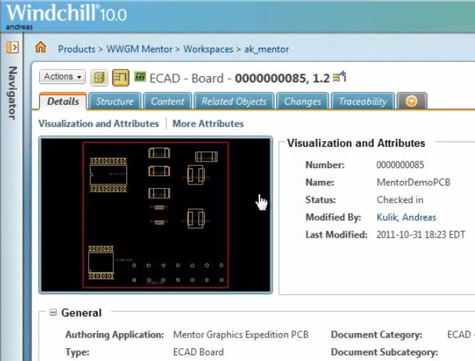 Managing Mentor Graphics EE7 9 x iCDB ECAD designs in Windchill