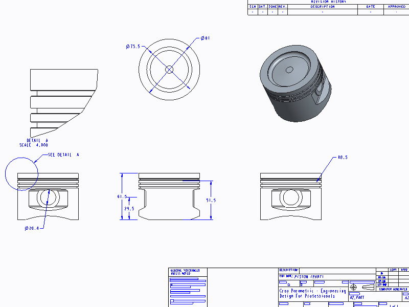 Modeling a Piston Part 1 of 3 | PTC Learning Connector
