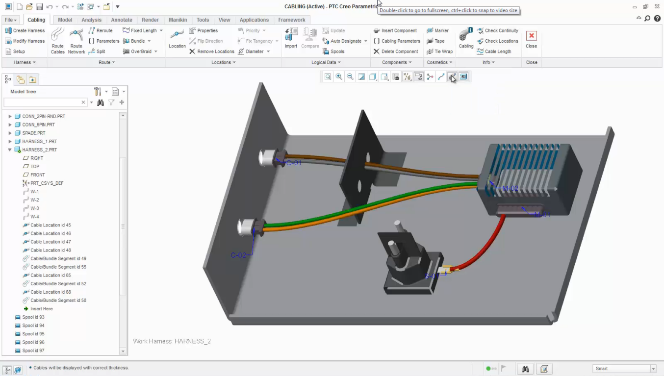 Performing An Optimization Design Study Ptc Learning Connector Wiring Harness Routing Wires Using Simple Route