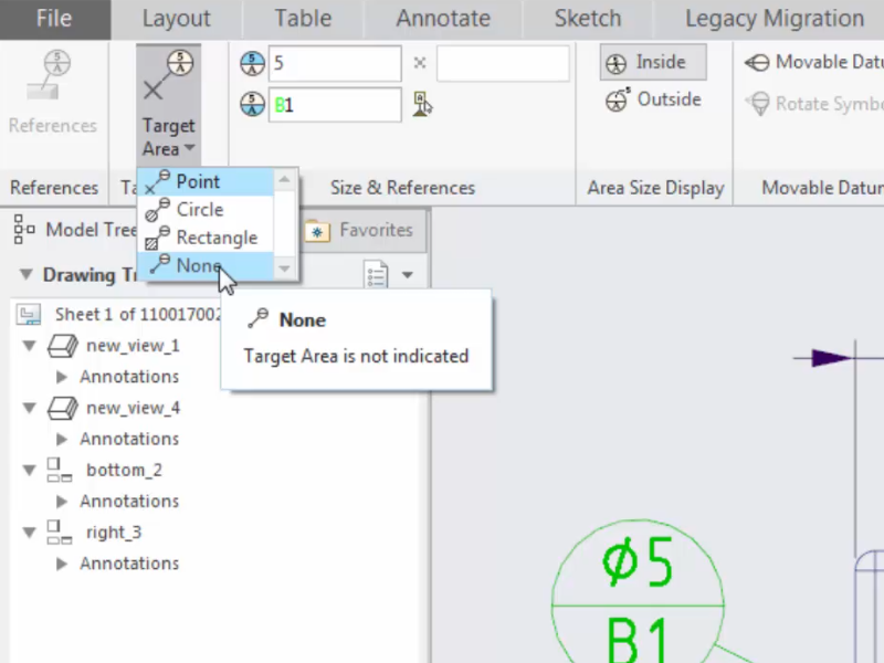 Specifying Additional Text Near Datum Feature Symbols In Detailed