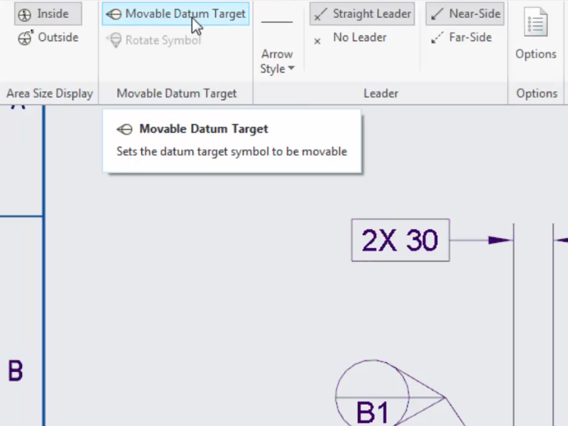 Support For Movable Datum Target Annotations In Detailed Drawings
