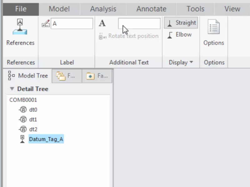 Specifying Additional Text Near Datum Feature Symbols In Model Based