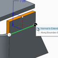 Creating Extend Wall Features
