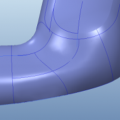 Creating N-sided Surface adding curvature constraints and internal curves