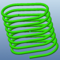 Waisted-shape Spring--Creating A Helical Sweep Along An Extruded Surface Profile