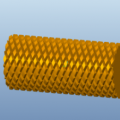 Create Knurling On a Cylindrical Surface