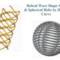 Helical Wave Shape Spring  & Spherical Helix by Datum Curve.