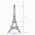 Eiffel tower concept in CREO 2.0 LAYOUT
