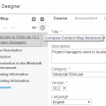 Precision LMS Course Designer - Creating and Viewing Content Map Iterations